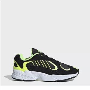 Adidas Yung 1 Black Neon Yellow Mens shoes
